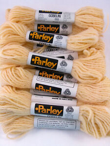 Lot-of-15-Tapestry-Wool-Skeins-Parley-Gobelin-100-Wool-Buff-682-Made-in-Holland