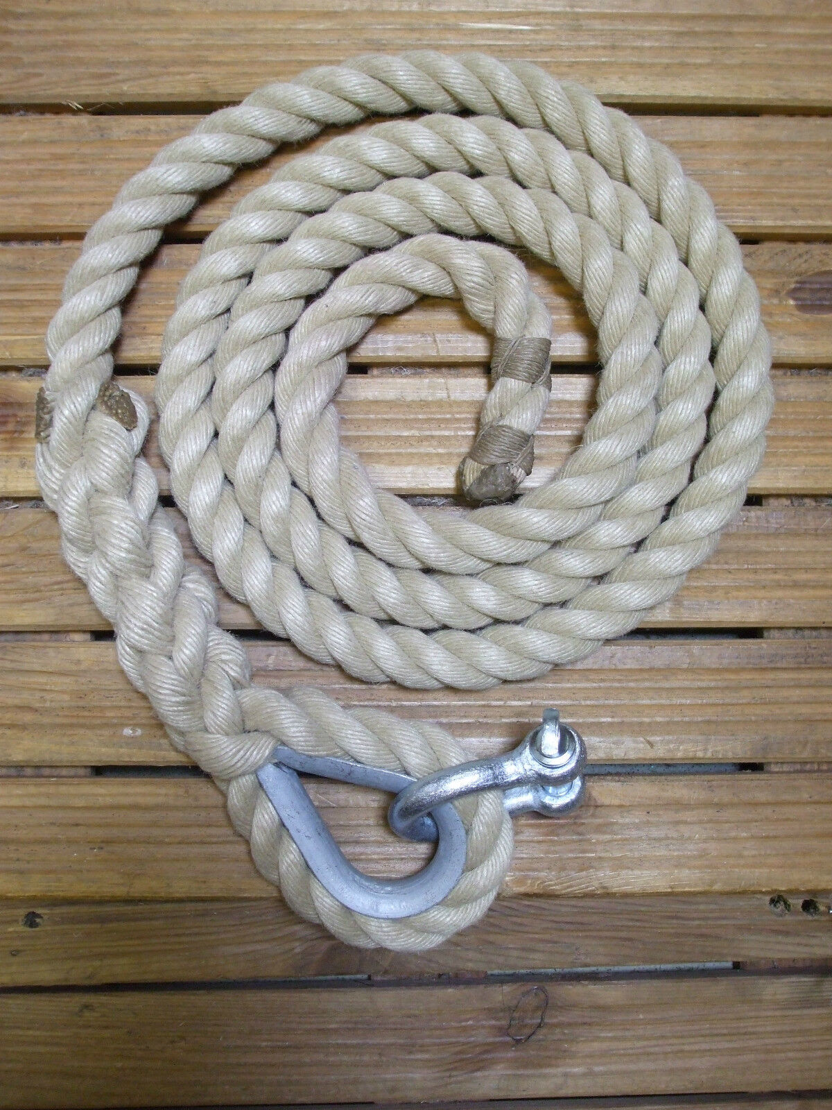 GYM ROPES FOR FITNESS AND CLIMBING - with thimble and shackle - made to measure