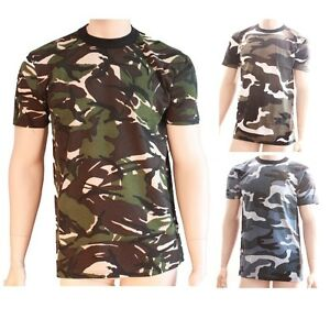6c0dda9c Kids Boy Army Colour Color Camo Combat Style Camouflage Short Sleeve ...