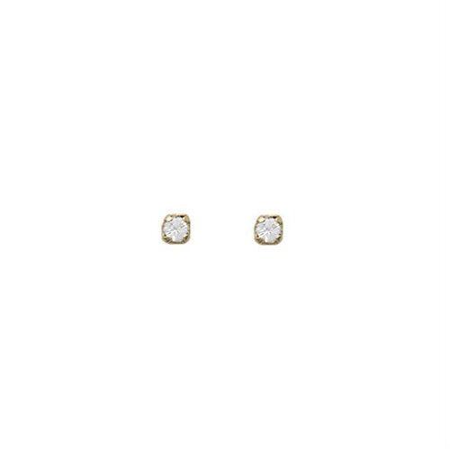 De 9 quilates de oro.375 Pull a través de Shamballa Gota De Cristal cuelgan aretes