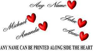 Personalisiert Liebe Herz Und Name Tattoos X6 Ebay
