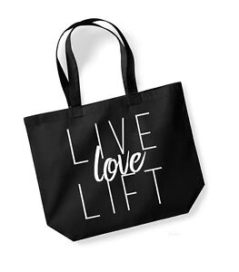 Live Love Lift  Large Canvas Tote Bag  Gym Fitness Exercise Yoga Workout - Sheffield, South Yorkshire, United Kingdom - Live Love Lift  Large Canvas Tote Bag  Gym Fitness Exercise Yoga Workout - Sheffield, South Yorkshire, United Kingdom