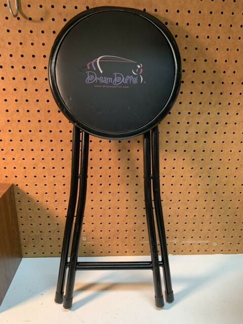 DREAM DUFFEL Large Black Rolling Dance Bag Luggage Suitcase --- Stool Only