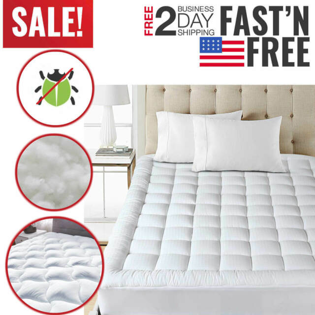 Mattress Protector Waterproof Hypoallergenic Pad Bed Bug Cover Topper Full Size