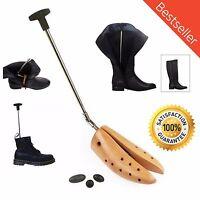 Boot Stretcher Men Shoe Wooden Shaper Adjustable Fit Cowboy Boots Western