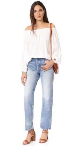 1360 Taille Droite Denim Bleu 377 Bleu Jeans Haute Haute Moussy Vintage Large Jambe Taille wxIvO