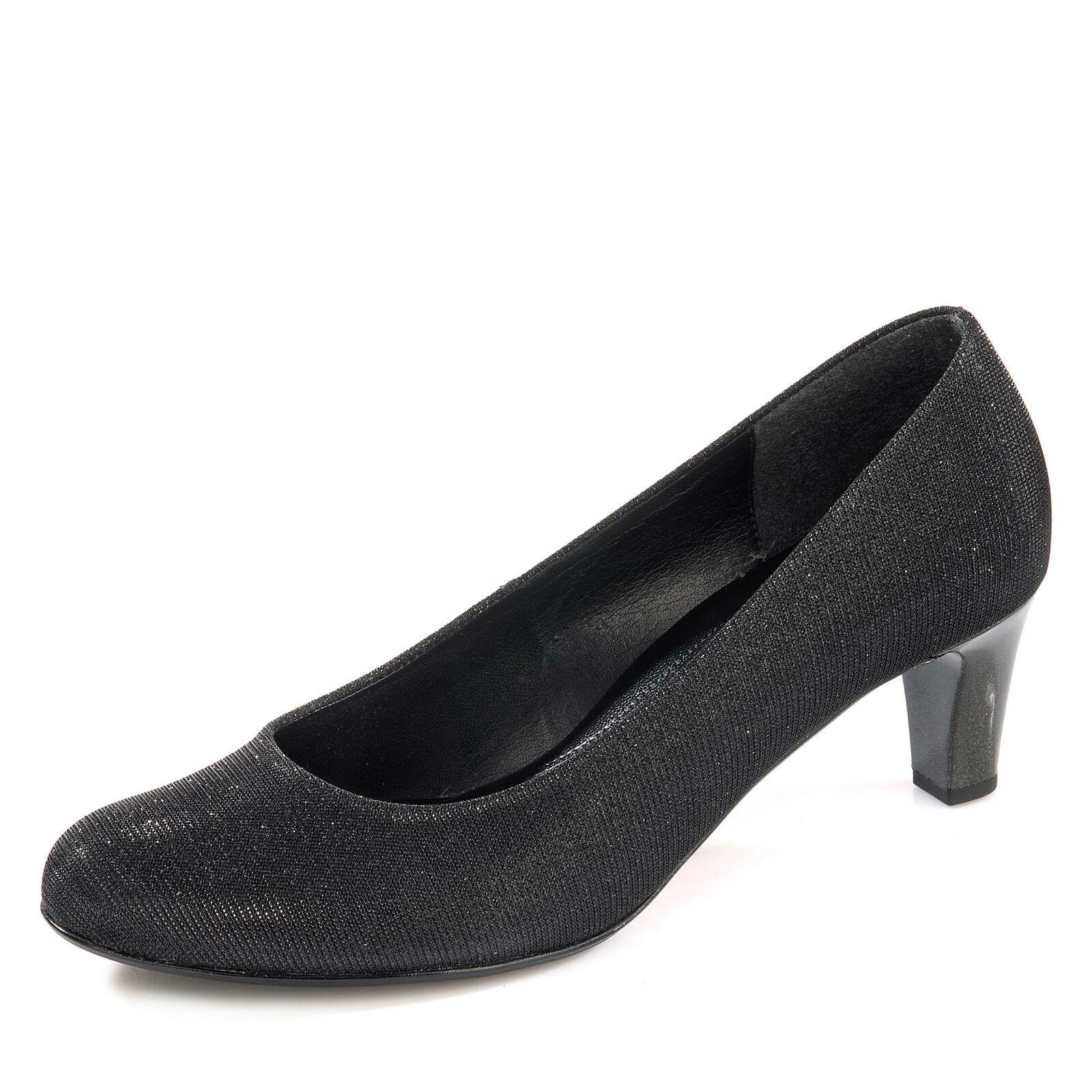 Gabor Damen klassischer Pumps Schlupfschuhe Absatzschuhe Textilmaterial Schuhe