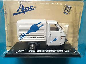 """Acheter Pas Cher Die Cast """" Tm P50 Furgone Pubblicita' Piaggio - 1986"""" Ape Collection Scala 1/32"""