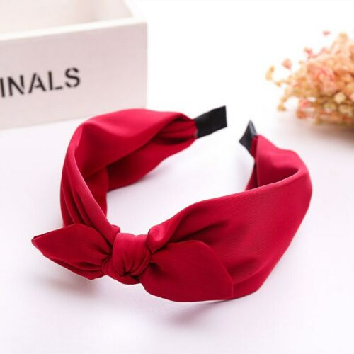 Fashion Fabric Hair Band Bow Wide Headband Knot Alice Head Band Accessorie Women