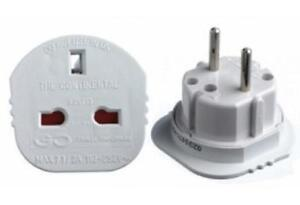 Electrical-Adapter-Continental-European-2-pin-converting-UK-3-Pin-Travel-Plug