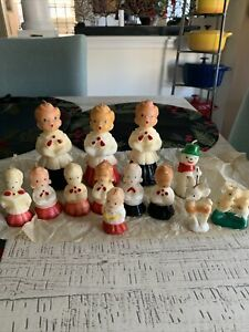 Vintage Christmas Carolers Candle Set of 13 Rare