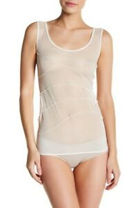 New-Women-039-s-WOLFORD-Porcelain-Mesh-Pintuck-Pleat-Tank-Top-size-M