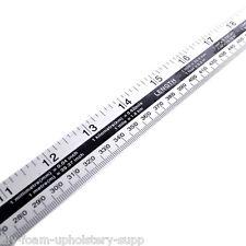1 Metre Steel Rule Aluminium Ruler Metal Yard Stick Meter Ruler Inches MM P5190