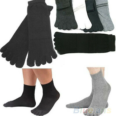 5 PAIRS FASHION MENS CASUAL WARM FIVE FINGER TOE SOCKS COMFORTABLE COTTON GREAT