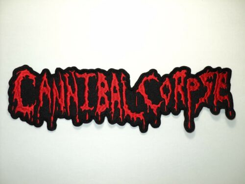 CANNIBAL CORPSE RED OLD LOGO EMBROIDERED BACK PATCH