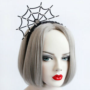 Halloween-1pc-Women-Headband-Spider-Web-Flower-Hat-Crown-Hair-Hoop-Party-Cosplay