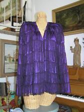 Vintage Women's Evening Purple String Dinner Jacket Cocktail Vaudeville Chez 18W