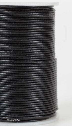 Lederband Lederbänder Lederriemen Rundlederriemen echt Leder Rindleder 2mm 20m