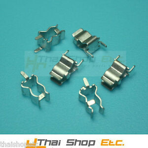 50-x-Fuse-Clip-Holder-for-6mm-with-end-stop-and-PCB-lug