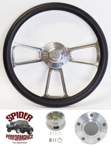 "1965-1969 Fairlane Galaxie 500 steering wheel FORD 14/"" POLISHED BILLET"