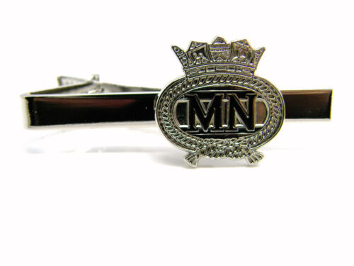 THE MERCHANT NAVY BADGE TIE CLIP PIN SLIDE NAVAL MILITARY GIFT IN BOX