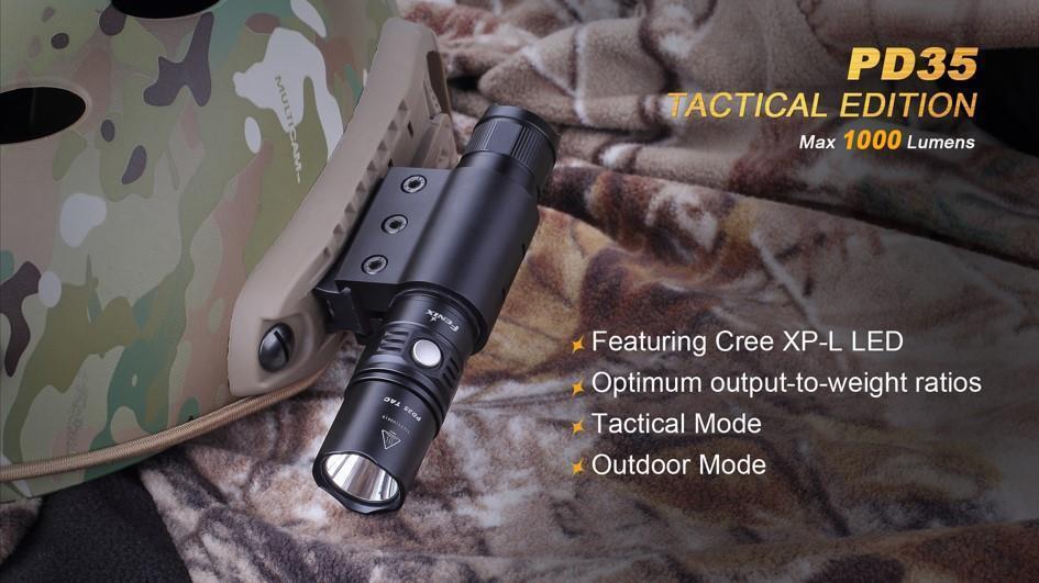 Falcon Innovations FI500LALF2RLI BLUECOLT T500 Tactical LED Rechargeable Flashlight Kit Black