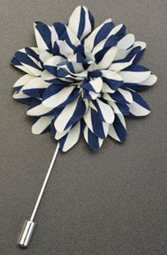 New Men/'s Suit brooch chest buckle brooch Polka Dots Stripes flower lapel pin