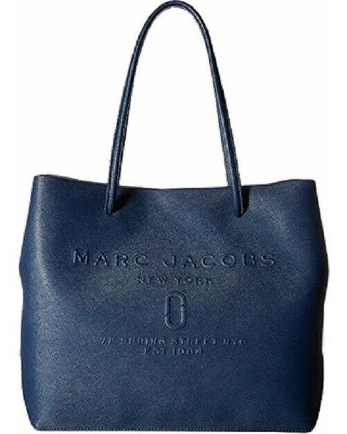 Marc Jacobs Women's Logo SHOPPER Tote Bag Blue Sea One Size