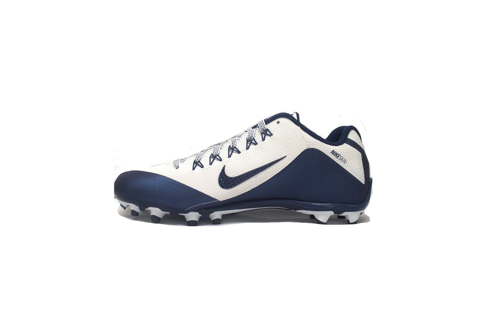 NIKE Alpha Pro 2 TD Football Cleats (White Navy)