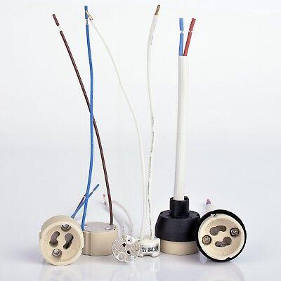 10x  GU10 Fassung Lampenfassung 230V Hochvolt Fassung Einbaustrahler LED Halogen