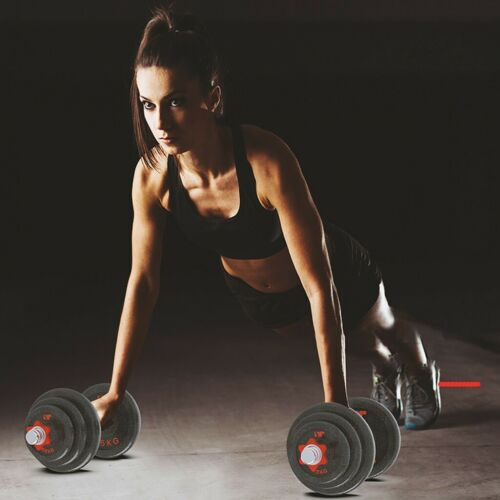 Details about  /50KG//110LB Weight Dumbbell Set Adjustable Fitness GYM Home Cast Full Iron Steel