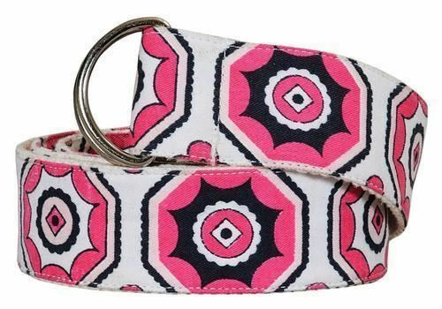 Equine Couture Kelsey Ribbon Belt Cotton with Metal Rings Closure