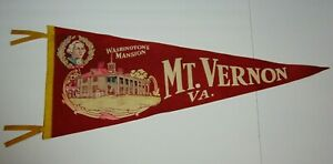 30-034-Old-Vintage-1950s-Mt-Vernon-Virginia-George-Washington-GRAPHIC-FELT-PENNANT
