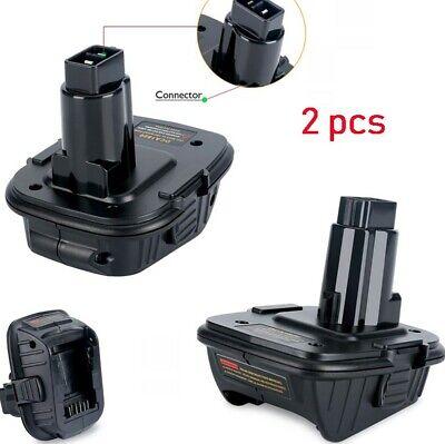 2 pack DCA1820 20V MAX To 18V Adapter Converter For Dewalt 20Volt Li-Ion Battery