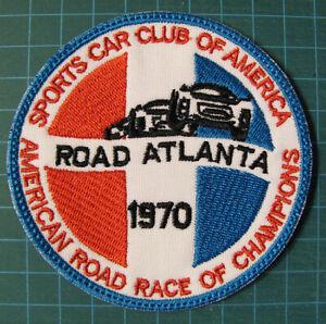 Sports-Car-Club-Of-America-SCCA-Road-Atlanta-1970-Racing-Patche-IMSA