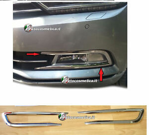 Chrom-VW-PASSAT-B8-Nebelscheinwerfer-Rahmen-Blenden-ab-2014-aus-Edelstahl