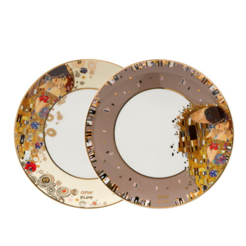"GOEBEL PORZELLAN Gustav Klimt /""Der Kuss/"" 2er Set Frühstücksteller 67013011"