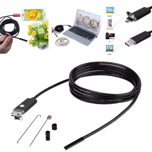 8MM 10M Car Engine Endoscope HD 2 IN 1 USB Android PC 6 LEDs Inspection Camera