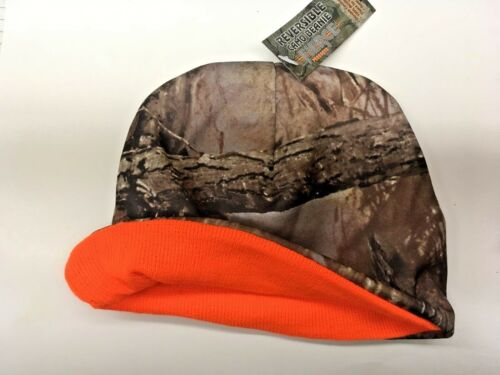 NEW Muddy Water Reversible Camo Beanie, with Orange Interior, Fierce Products