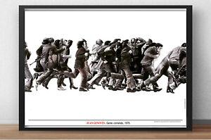 Cartel-de-obra-JUAN-GENOVES-Gente-corriendo-1975-Editado-por-Museo-Reina