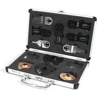 13pcs Master Multi Tool Oscillating Blades Accessory Collection W/ Aluminum Case