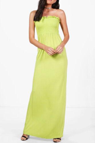 Ladies Women Sheering Beach Maternity Bandeau Shirred Summer Long Maxi Dress Uk