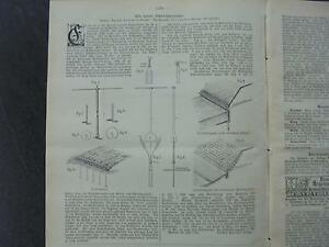 1898 Baugewerkszeitung 72/vis D'ancrage De Bücking De Brème-ung 72 / Schraubenanker Von Bücking Aus Bremen Fr-fr Afficher Le Titre D'origine Des Friandises AiméEs De Tous