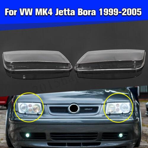 Plastic Headlight Headlamp Lenses Case Replacement For VW Jetta MK4 Bora 99-04