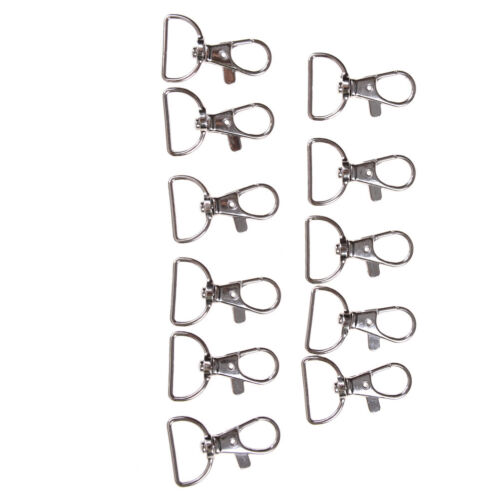 10pcs//set SilvYH Metal Lanyard Hook Swivel YHap Hooks Key Chain Clasp Clips YH