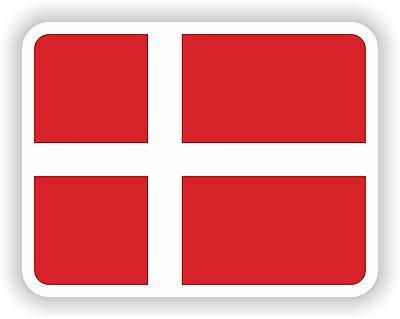 Dänemark Wappen Aufkleber für Stoßstange Skateboard Laptop Guitar Boot Helm Auto