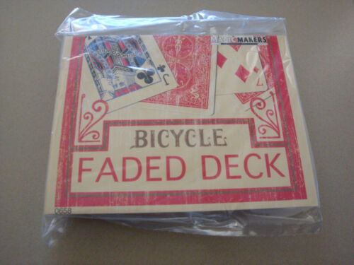 FADED RIDER BACK BICYCLE LIMITED ONE DECK RED PLAYING CARDS MAGIC MAKERS TRICKS