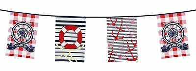Navy Marine Nautical Sailor Flag Banner Bunting Armed Forces Party Decoration
