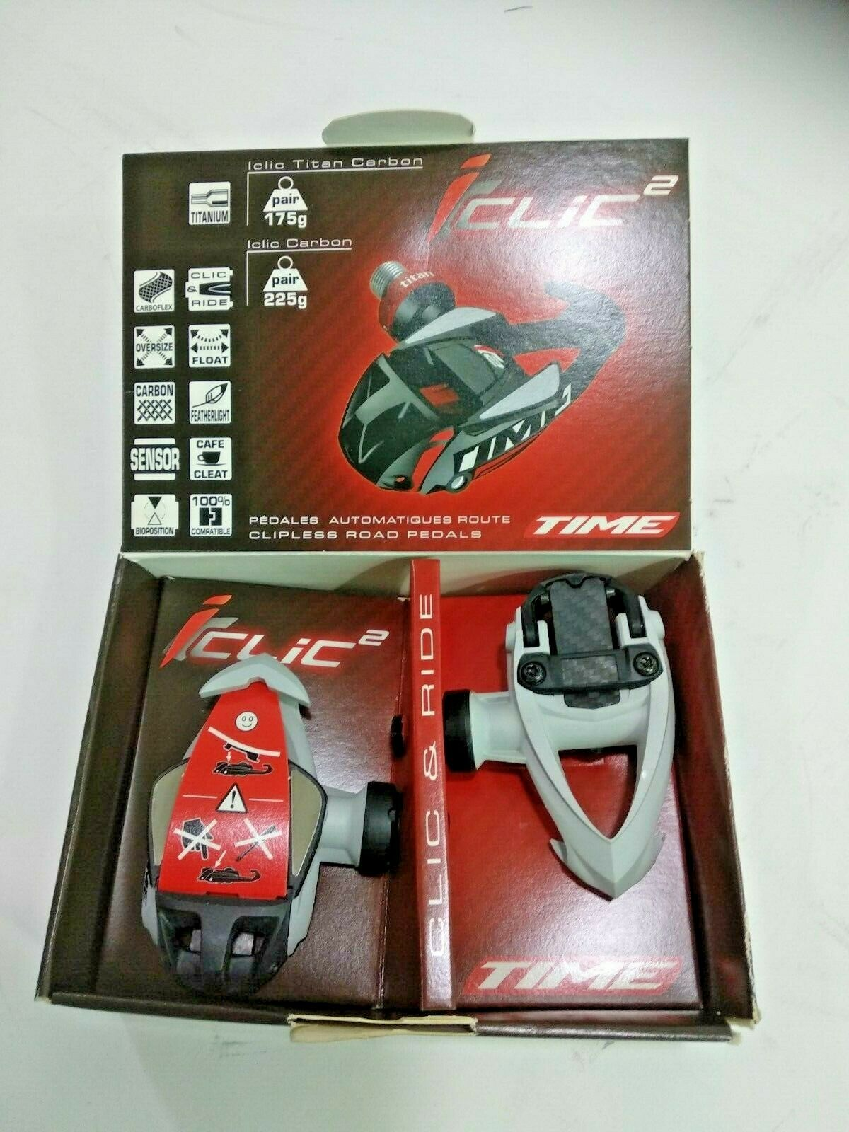 TIME PEDALS  ICLIC2 RACER - ivory  happy shopping