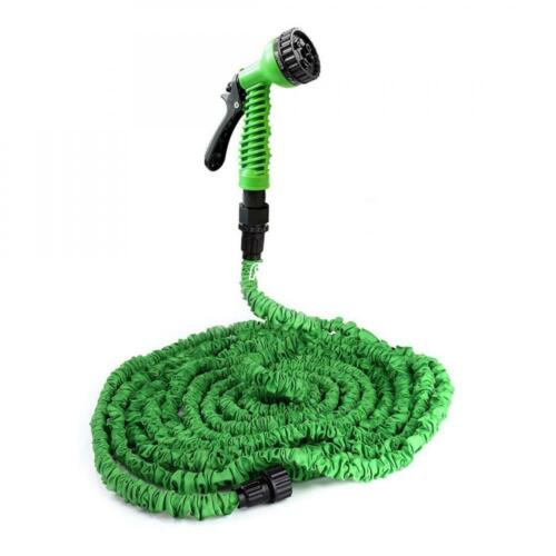 Deluxe 25 50 75 100ft Expandable Flexible Garden Water Hose with Spray Nozzle